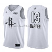 Maillot NBA Pas Cher Houston Rockets James Harden 13# White 2018 All Star Game Swingman..